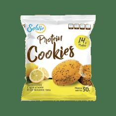 Протеиновое печенье лимонное с цукатами и чиа