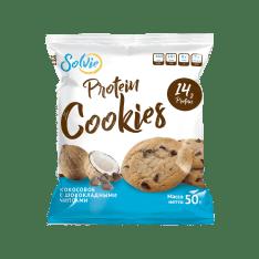Протеиновое печенье кокосовое с шоколадными чипсами