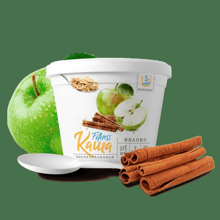 Fitness каша со вкусом яблока и корицы