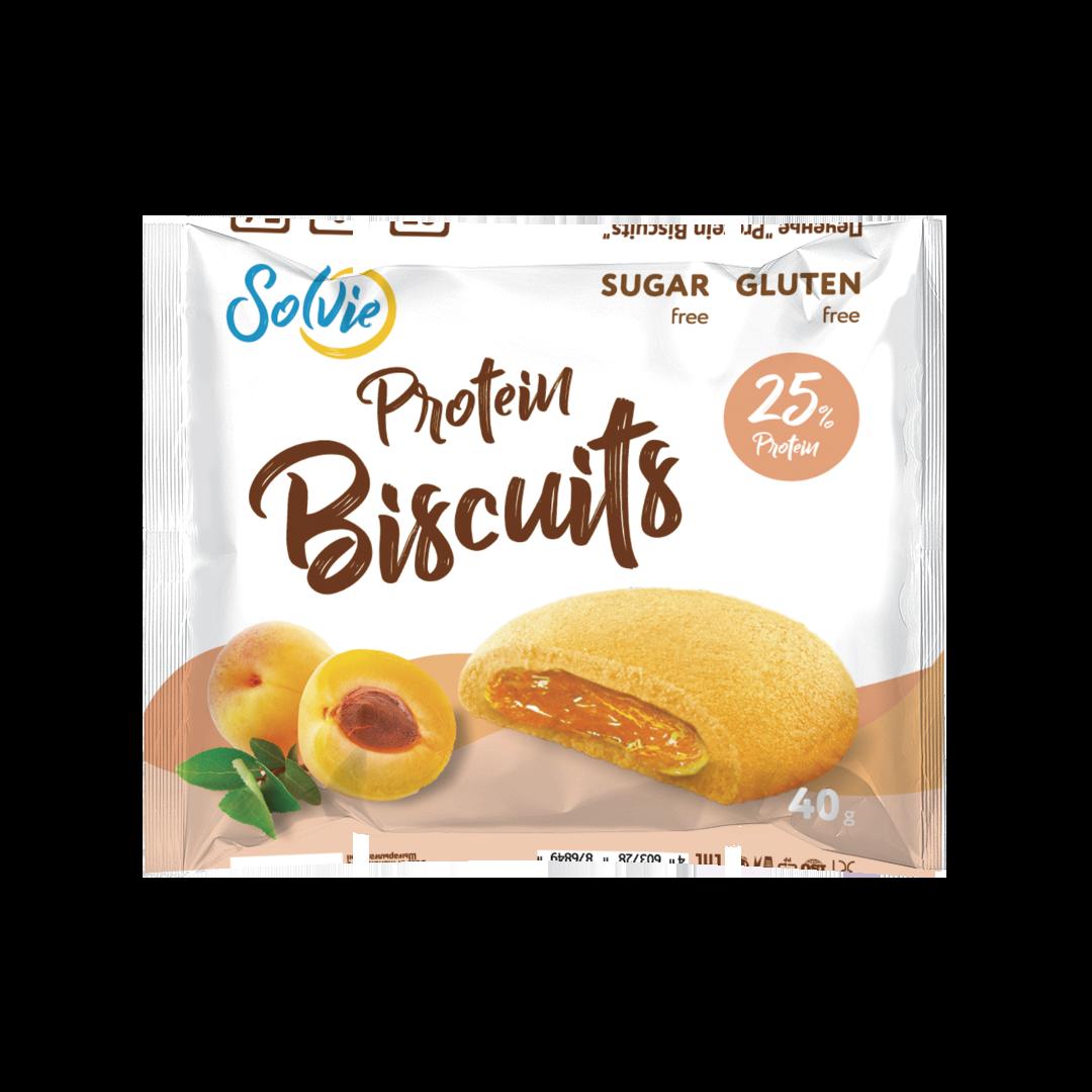 """Протеиновое печенье с низкокалорийной плодово-ягодной начинкой """"Абрикос"""""""