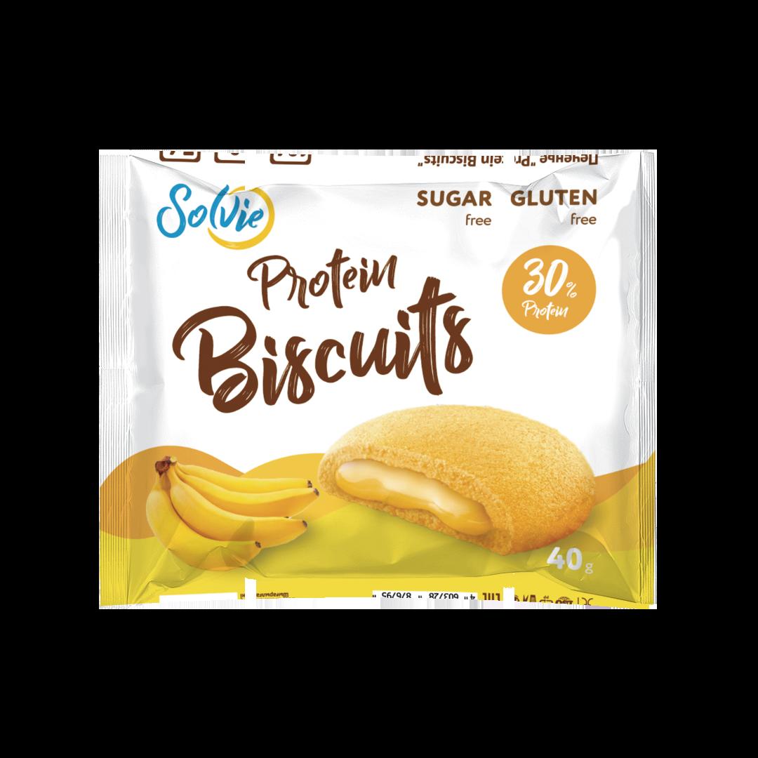 """Протеиновое печенье с белково-кремовой начинкой """"Банан"""""""