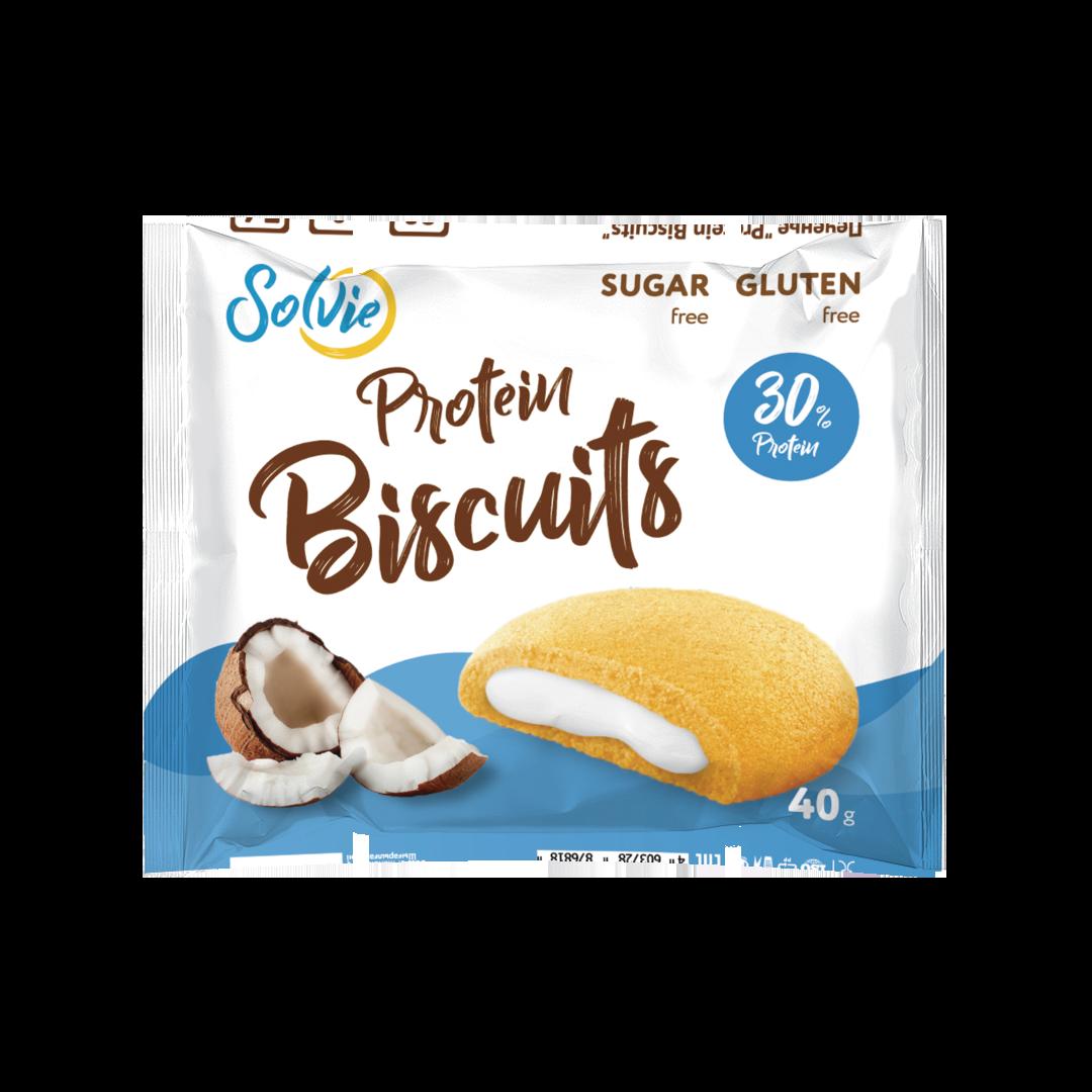 """Протеиновое печенье с белково-кремовой начинкой """"Кокос"""""""