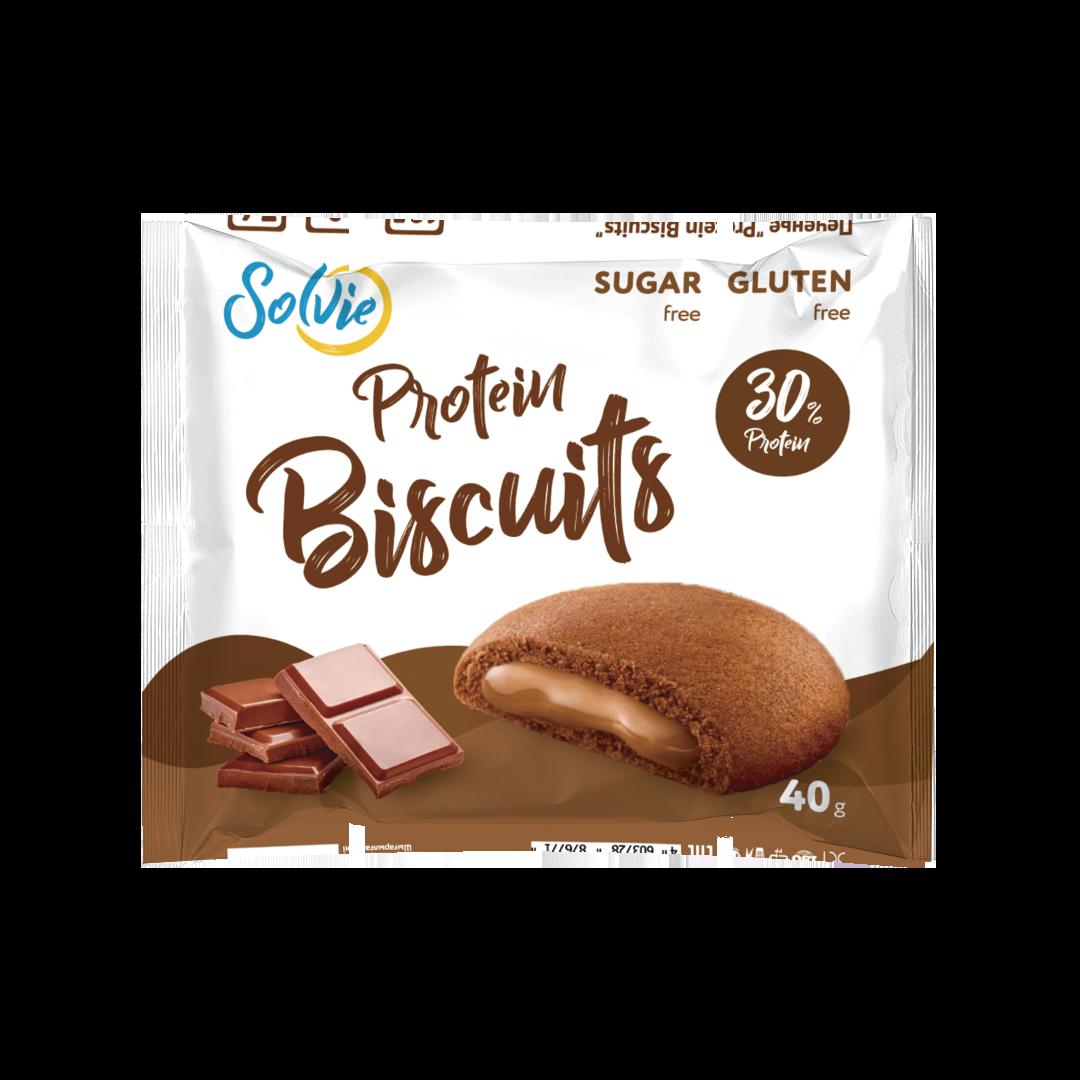 Протеиновое печенье шоколадное с белково-шоколадной начинкой