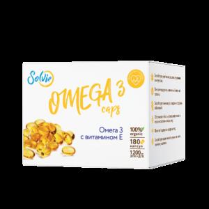 Омега-3 с витамином Е в капсулах (Omega 3 caps), 180шт