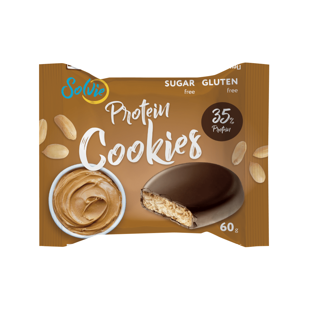 """Печенье """"Protein cookies"""" протеиновое арахисовое, глазированное молочным шоколадом, без сахара/продукт готовый кондитерский 60г*8шт"""